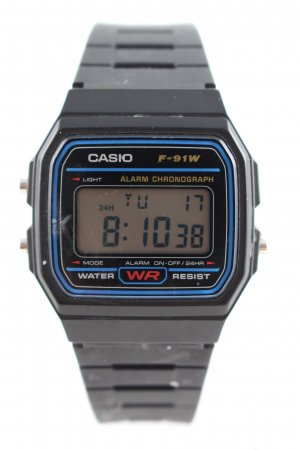 Casio Automatikuhr schwarz-blau Business-Look