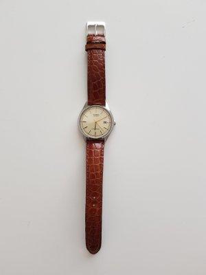 Casio Montre avec bracelet en cuir brun-bronze cuir