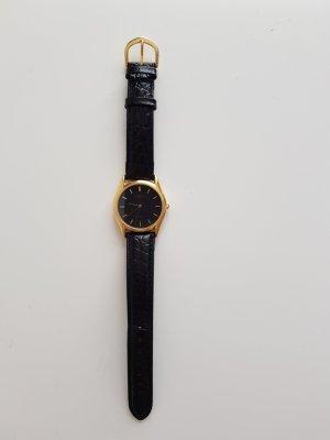 Casio Montre avec bracelet en cuir noir cuir