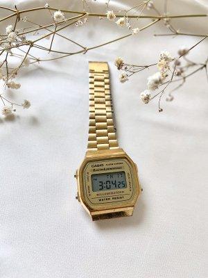 Casio Reloj con pulsera metálica color oro