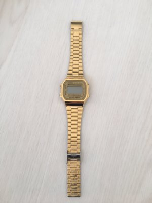 Casio Watch With Metal Strap gold-colored