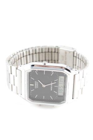 Casio Uhr mit Metallband silberfarben Casual-Look