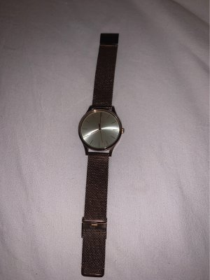 Casio Watch With Metal Strap rose-gold-coloured