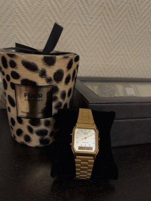 Casio Watch With Metal Strap dark yellow