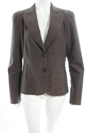 caspar david Blazer dark brown-beige striped pattern simple style