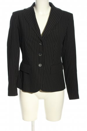 Caspar David Short Blazer black striped pattern business style