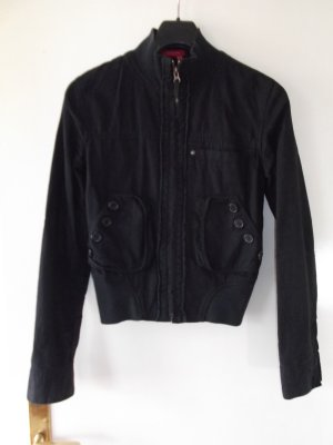 Castro Jacket black brown linen