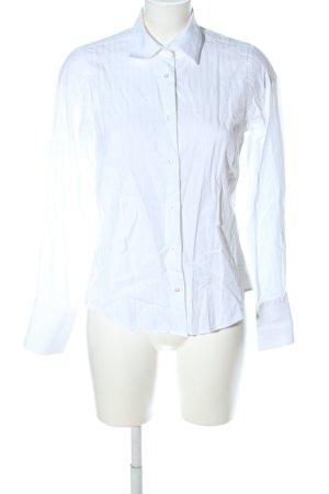 Cassani Hemd-Bluse weiß Streifenmuster Business-Look