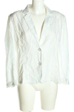Cassani Korte blazer wit casual uitstraling
