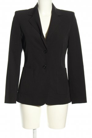 Cassani Long-Blazer schwarz Business-Look