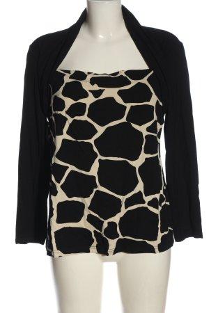 Cassani Longsleeve black-natural white animal pattern casual look