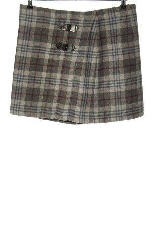 Cassani Mini rok geruite print casual uitstraling