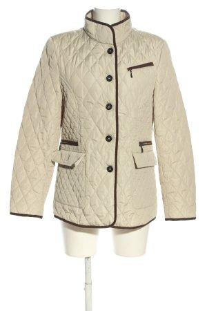 Cassani Pikowana kurtka kremowy Pikowany wzór W stylu casual