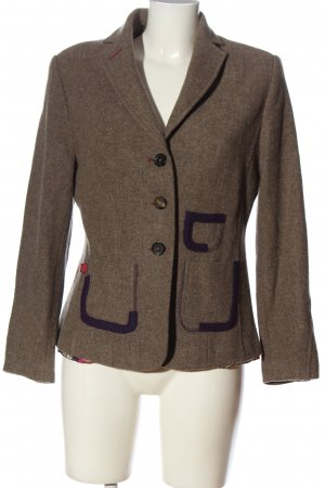 Cassani Wollen blazer bruin zakelijke stijl