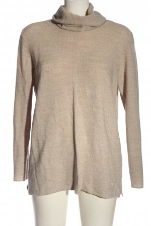 Cassis Turtleneck Sweater natural white flecked casual look