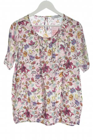 Cassis Slip-over Blouse pink-white allover print casual look