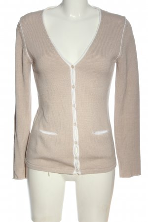 Cassis Knitted Cardigan cream casual look