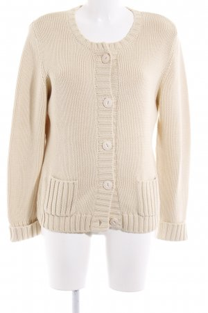 Cassis Knitted Blazer cream weave pattern classic style