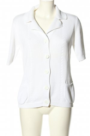 Cassis Giacca in maglia bianco stile casual