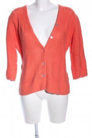 Cassis Strickjacke hellorange Casual-Look