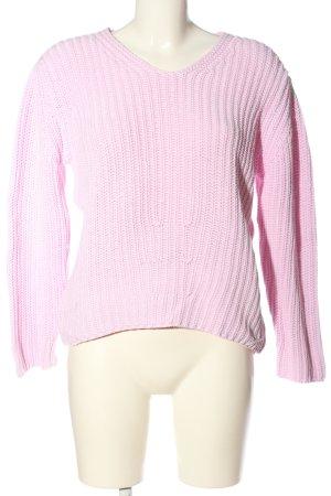 Cassis V-Ausschnitt-Pullover pink Casual-Look