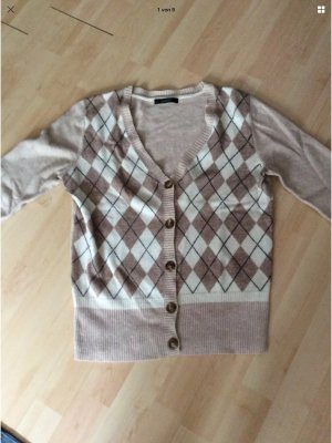 Cassis Wolle Cardigan Gr 42 beige