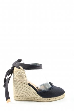 Castañer Espadrille sandalen zwart casual uitstraling