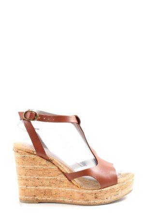 Castañer Sandalo con plateau marrone stile casual