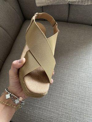 Castañer Sandales à plateforme marron clair-beige