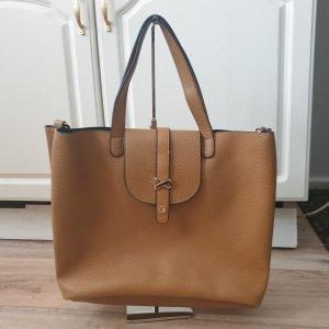 Casto Shopper Leder Braun/Senf wie Neu Tasche