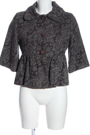 Castro Short Blazer black-light grey allover print casual look
