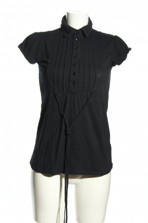 Castro Kurzarm-Bluse schwarz Business-Look