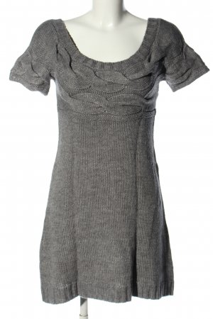 Castro Knitted Dress light grey cable stitch casual look
