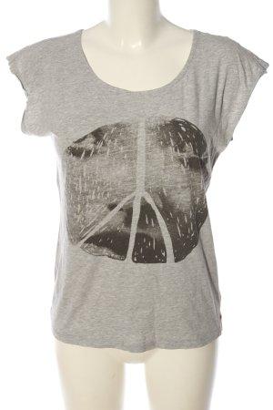 Castro T-shirt grigio chiaro-nero puntinato stile casual
