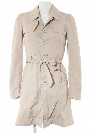 Castro Trench Coat oatmeal casual look
