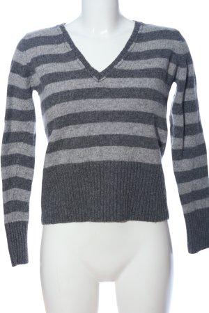 Castro V-Neck Sweater light grey-black flecked casual look
