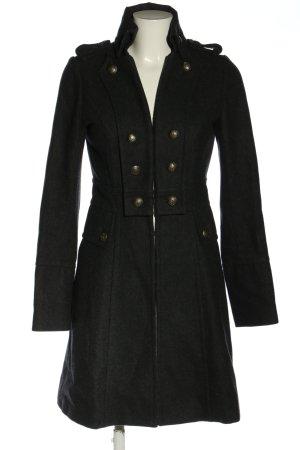 Castro Cappotto in lana nero puntinato stile casual