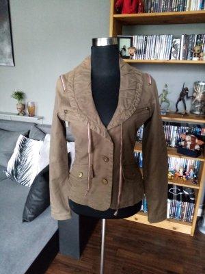 Bandolera Between-Seasons Jacket bronze-colored-ocher cotton