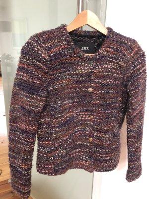 Set Veste tricotée en grosses mailles multicolore