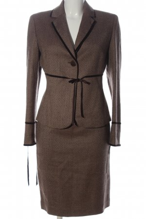 Casual Corner Ladies' Suit brown allover print business style