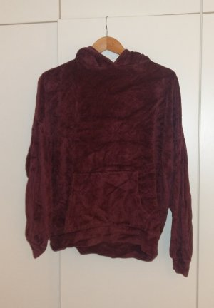 Sparkle & Fade Hooded Sweater bordeaux-blackberry-red