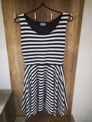 Cotton Candy Flounce Dress white-black