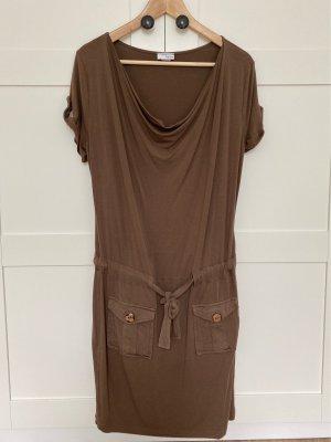 Casual Kleid mit Wasserfallausschnitt und Taschen