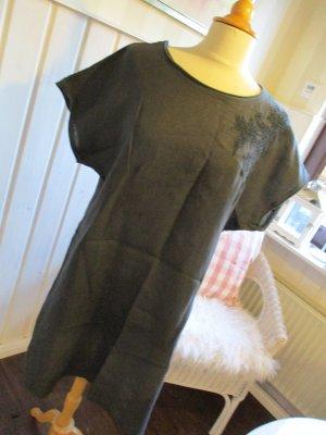 Casual Leinenkleid Kleid Tunika schwarz