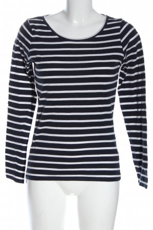 casual Longsleeve black-white allover print casual look