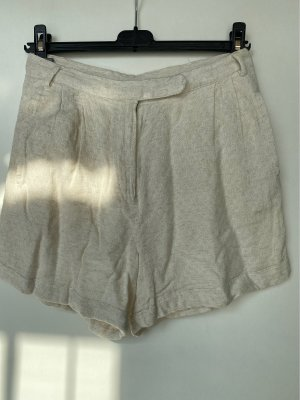 Mango High-Waist-Shorts natural white-cream