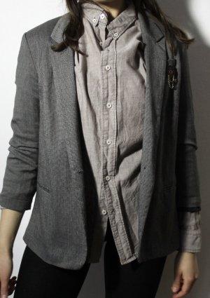 Urban Outfitters Blazer Boyfriend gris-gris claro