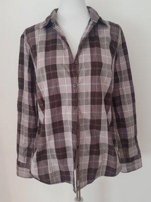 Casual Vintage Bluse von Tom Tailor Gr. 42 XL braun weiß kariert