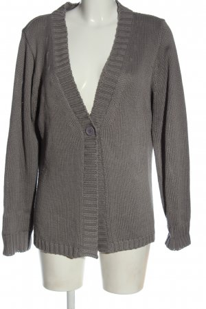 Casual W.E.A.R Cardigan light grey cable stitch casual look
