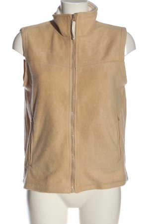 Casual W.E.A.R Fleece vest nude casual uitstraling